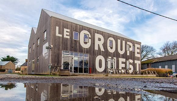 Le siège du Groupe Ouest, à Brigognan, Finistère.